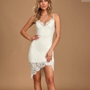 flirting with desire white lace dress new w tags